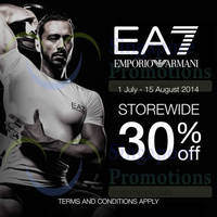 Read more about EA7 Emporio Armani End of Season SALE 1 Jul - 15 Aug 2014