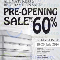 Read more about Englander Mattress & Bedframes Sale @ Shun Li Industrial Park 18 - 20 Jul 2014