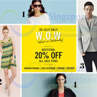 Read more about F3 20% OFF Sale Items @ Dorothy Perkins, Miss Selfridge, Topman, Topshop 30 Jul 2014