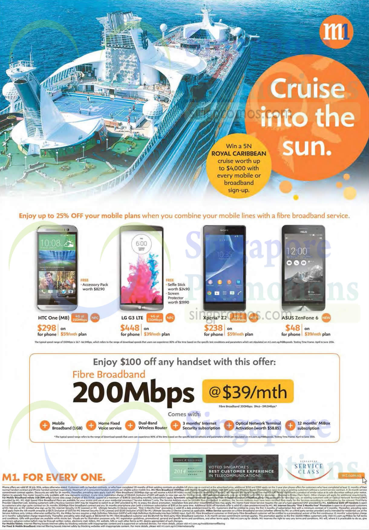 Fibre Broadband 39.00 200Mbps, HTC One M8, LG G3, Sony Xperia Z2, Asus Zenfone 6