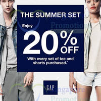 Read more about GAP Buy Tee & Shorts Set & Get 20% OFF 12 Jul 2014