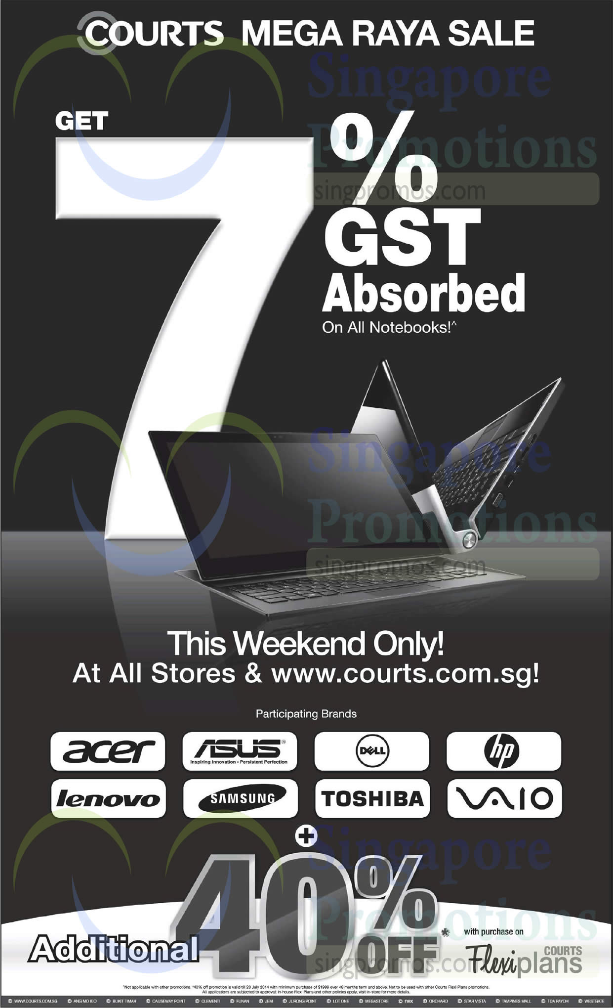 GST 7 Percent Absorbed On All Notebooks