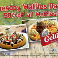 Read more about Gelare 50% OFF Waffles Tuesdays Promo 9 Jul 2014