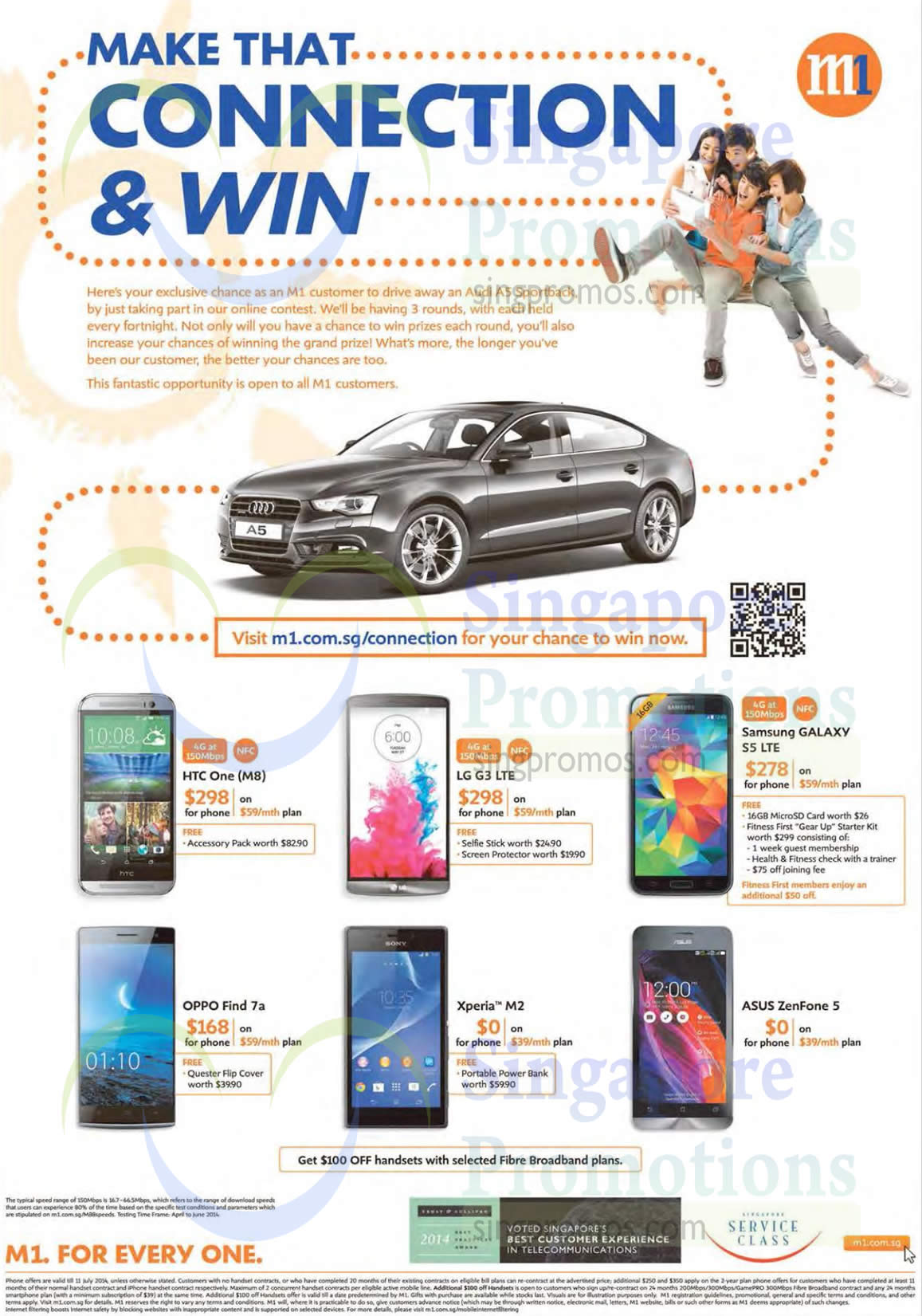 HTC One, LG G3, Samsung Galaxy S5, Oppo Find 7a, Sony Xperia M2, ASUS ZenFone 5
