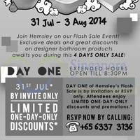 Read more about Hemsley Designer Bathroom Products Sale 31 Jul - 3 Aug 2014