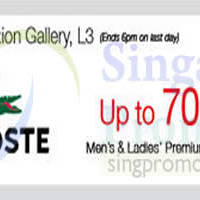 Read more about Lacoste Up To 70% OFF Promo @ Isetan Scotts 15 - 21 Aug 2014