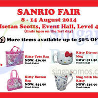 Read more about Hello Kitty Sanrio Fair @ Isetan Scotts 8 - 14 Aug 2014