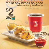 Read more about KFC NEW $2 Coffee & Scone Breakfast & Tea Time Offer 23 Jul 2014