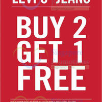 Read more about Levi's Buy 2 Get 1 FREE Promo @ IMM 24 - 28 Jul 2014