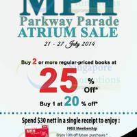 Read more about MPH Bookstores Up To 25% Off Promo @ Parkway Parade 21 - 27 Jul 2014