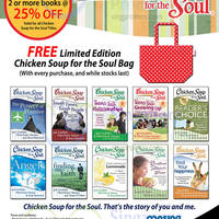 Read more about MPH Bookstores Chicken Soup For The Soul 20% OFF Promo @ Raffles City 1 - 31 Jul 2014