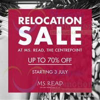 Read more about MS. Read Relocation SALE @ Centrepoint 3 Jul 2014