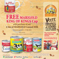 Read more about Marigold Buy 6 Tins Canned Milk & Get FREE King of Kings Cup 4 - 17 Jul 2014