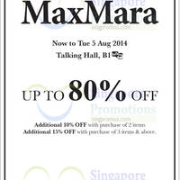 Read more about Maxmara Bazaar @ Takashimaya 31 Jul - 5 Aug 2014