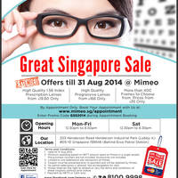 Read more about Mimeo Extended Great Singapore Sale Promotion 13 Jul - 31 Aug 2014