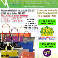 Read more about MyBagEmpire Luxury Branded Handbags Sale 11 - 13 Jul 2014