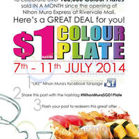 Read more about Nihon Mura Express $1 Colour Plate Promo 7 - 11 Jul 2014