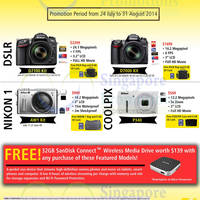 Read more about Nikon Coolpix, Nikon 1 & DSLR Digital Camera Offers 24 Jul - 31 Aug 2014