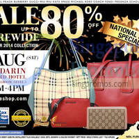 Read more about Nimeshop Branded Handbags Sale @ Mandarin Orchard 2 Aug 2014