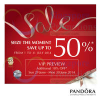 Read more about Pandora SALE 1 - 31 Jul 2014