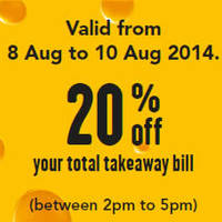 Read more about Pizza Hut 20% OFF Takeaway National Day Promo 8 - 10 Aug 2014