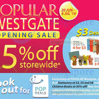 Read more about Popular Up To 15% OFF Storewide @ Westgate 4 - 6 Jul 2014