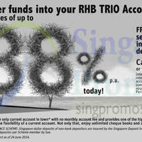 Read more about RHB Bank 0.88% p.a. Trio Current Account 9 Jul 2014