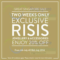 Read more about Risis 20% OFF Jewellery & Accessories Promo 4 - 18 Jul 2014