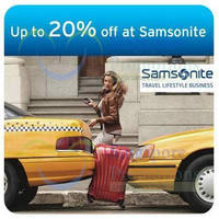 Read more about Samsonite Up To 20% OFF Private Sale Event Registration For Citibank Cardmembers 21 - 22 Jul 2014