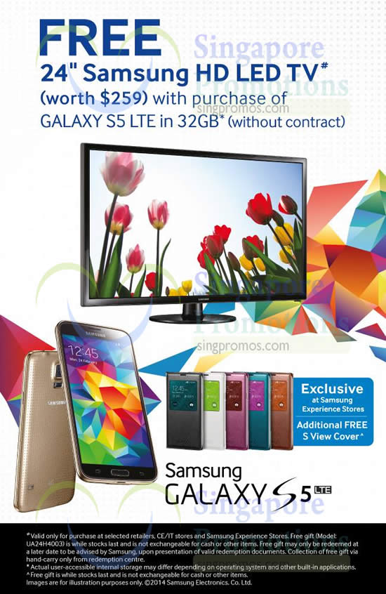 samsung buy galaxy s5 lte get free 24 samsung led tv promo 12 jul 2014. Black Bedroom Furniture Sets. Home Design Ideas