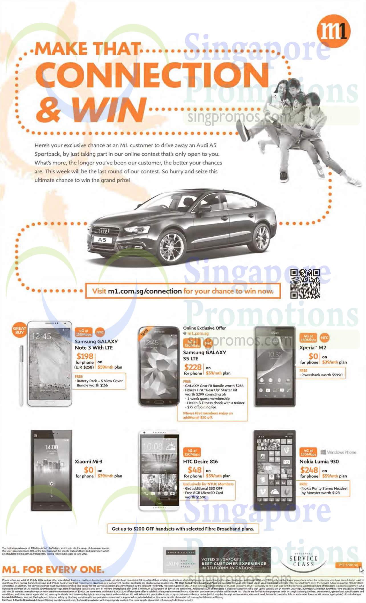 Samsung Galaxy Note 3, Samsung Galaxy S5, Xiaomi Mi3, HTC Desire 816, Nokia Lumia 930, Sony Xperia M2