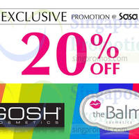 Read more about Sasa 20% OFF Gosh & The Balm Cosmetics Promo 31 Jul - 20 Aug 2014
