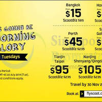 Read more about Scoot From $15 2hr Promo Air Fares 22 Jul 2014