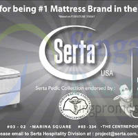 Read more about Serta Mattress Promotion 25 - 27 Jul 2014