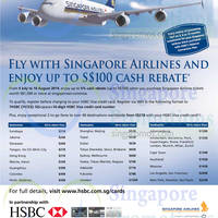 Read more about Singapore Airlines Up To $100 Cash Rebate For HSBC Visa Cardmembers 11 Jul - 10 Aug 2014