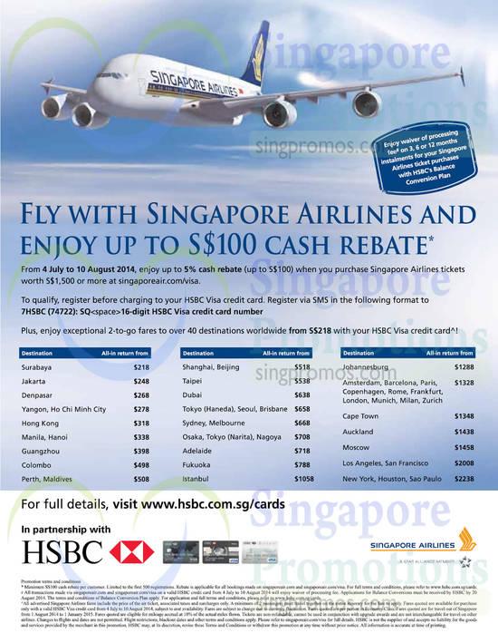 Singapore Airlines 11 Jul 2014