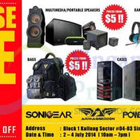 Read more about SonicGear Warehouse SALE 2 - 4 Jul 2014