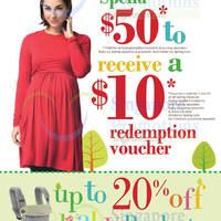 Read more about Spring Maternity & Baby Spend $50 & Get FREE $10 Voucher 16 - 31 Jul 2014