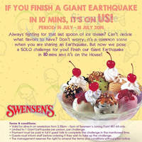 Read more about Swensen's FREE Giant Earthquake Challenge Promo @ Jurong Point 14 - 18 Jul 2014