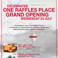 Read more about Swiss Bake Buy 1 Get 1 FREE Pastries @ One Raffles Place 23 Jul 2014