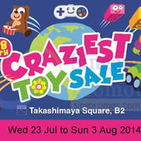 Read more about Takashimaya 18th Craziest Toy Sale 23 Jul - 3 Aug 2014