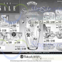 Read more about Takashimaya Bohemia Glassware Sparking Sale 11 - 27 Jul 2014