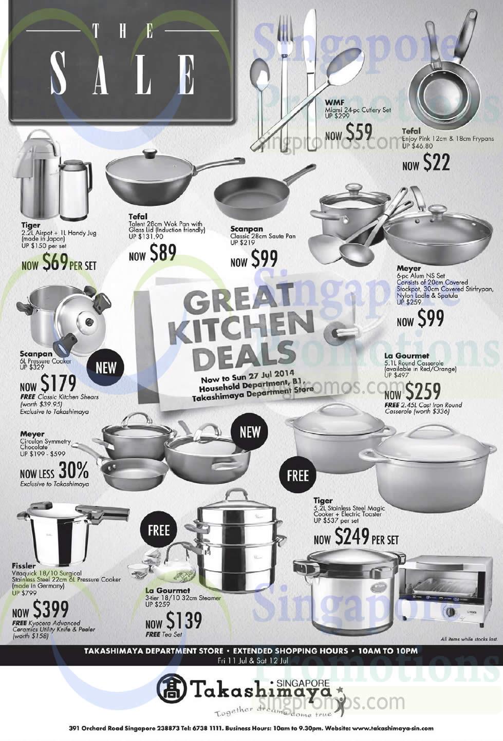Takashimaya Great Kitchen Deals 11 – 27 Jul 2014
