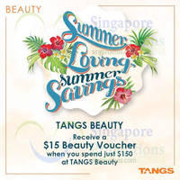 Read more about Tangs Beauty Spend $150 & Get FREE $15 Voucher 25 - 28 Jul 2014