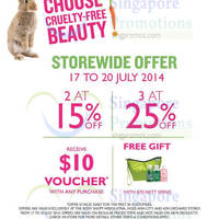 Read more about The Body Shop 15% OFF Storewide Promo @ Selected Outlets 17 - 20 Jul 2014