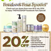 Read more about The Face Shop 20% OFF Selected Ranges 4 - 9 Jul 2014