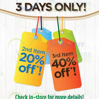 Read more about The Face Shop 20% OFF 2nd Item, 40% Off 3rd Item Promo 7 - 9 Jul 2014