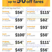 Read more about TigerAir Up To 50% OFF Air Fares Promo 3 - 6 Jul 2014