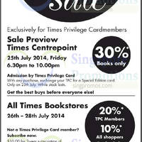 Read more about Times Bookstores SALE 26 - 28 Jul 2014