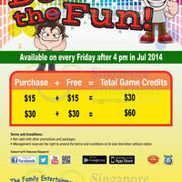 Read more about Timezone 100% Extra Double Dollar Fridays Promo 11 - 25 Jul 2014